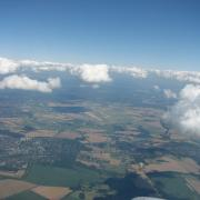 Flying from Berlin into Sweden