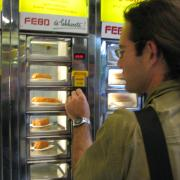 Some weird vending machine for fast food